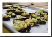 Mussels with Cucumber Relish