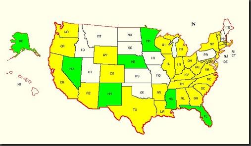 map of us distribution